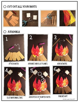 Campfire Textures Collage- Art Lesson for Kids