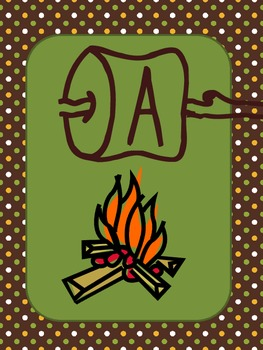 Campfire Themed Letters