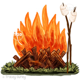 Campfire and Marshmallow Clip Art Printable Tracey Gurley Designs