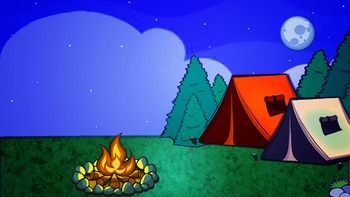 Campfire and marshmallows roasting ClipArt Set {Free}