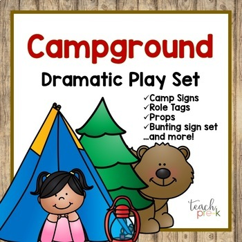 Campground Dramatic Play Set