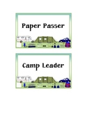 Campground Theme- Classroom Jobs