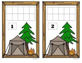 Camping 10 Frame Counting Mats (1-10)