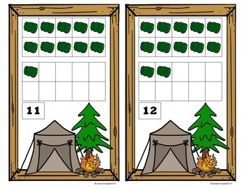 Camping 10 Frame Counting Mats Bundle Set (1-20)