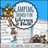 Camping Theme Activities Bundle