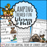 Camping Theme Activities Bundle