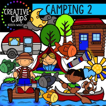 Camping 2 {Creative Clips Digital Clipart}