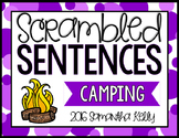 Camping Scrambled Sentence Station