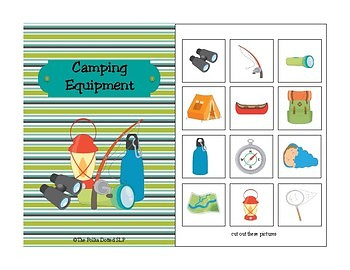 Camping Receptive and Expressive Language Activities