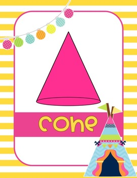 Camping 2D and 3D Shapes Posters-Classroom Theme Decor