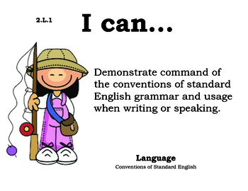 Camping 2nd grade English Common core standards posters