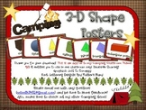 Camping 3-D Shape Posters