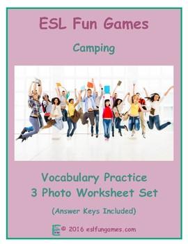 Camping 3 Photo Worksheet Set