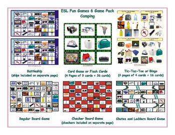Camping 6 Board Game Bundle