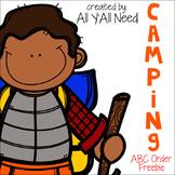 Camping ABC Order Freebie