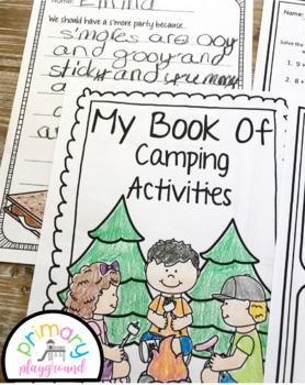 Camping Activities No Prep Math and Literacy Pack