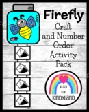 Firefly (Lightning Bug) Craft, Number Order Math Activity for Summer, Insects