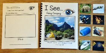 "Camping Adapted Book--""I See"" Going Camping"