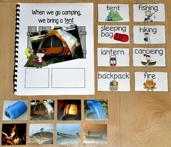 """Camping Adapted Book--""""When We Go Camping"""" (w/Real Photos)"""