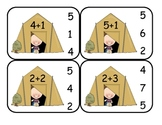 Camping  Addition Clip Card Math Center