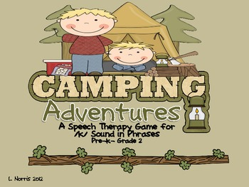Camping Adventures Speech Therapy Game for /k/ Phrases