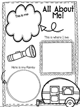 Camping All About Me Book