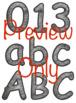 Camping Alphabet Clip Art Set