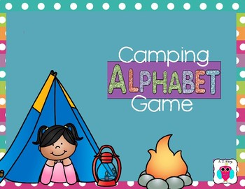 Camping Alphabet Game
