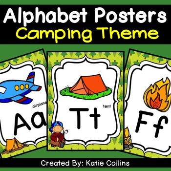 Camping Alphabet Posters #3