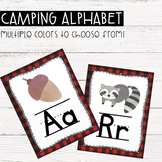 Camping Alphabet Posters- Editable