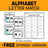 Camping Alphabet Puzzle Literacy Center