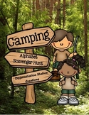 Camping Alphabet Scavenger Hunt: Upper and Lowercase Letters, Printables