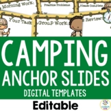 Camping Theme: Anchor Slide Templates (Editable)