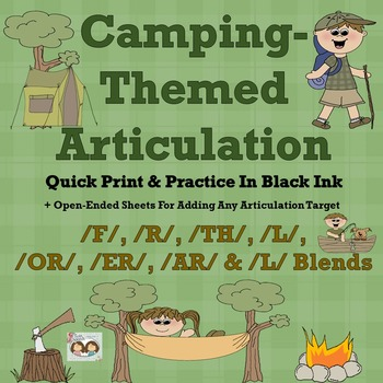 Camping Articulation: NO PREP /F, /R, /AR/, /ER/, /OR/, /T