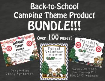 Camping BUNDLE! Scholar Targets, Friendship Targets, & Vol