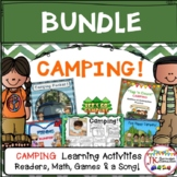 Camping BUNDLE of Readers, Math, Sight Word Game & a SONG!