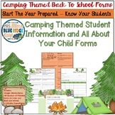 Camping Back To School Student Information & All About Your Child Forms Digital+