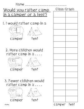 Camping Bar Graphs