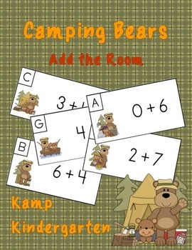 Camping Bears Add the Room  Sums to 10