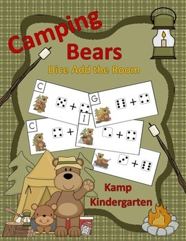 Camping Bears Dice Add the Room (Sums to 10)