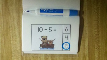 Camping Bears Subtraction Math Centers (Minuends to 10)
