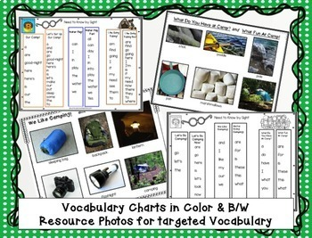 Camping - Beginning Readers for Guided Reading