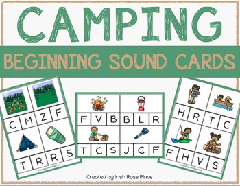 Camping Beginning Sound Cards
