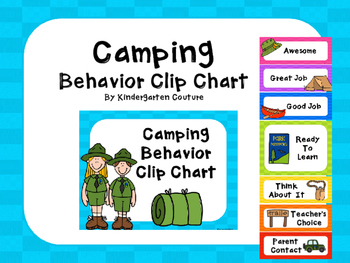 Camping Behavior Clip Chart