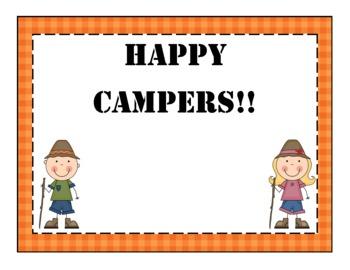 Camping Behavior Posters