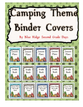 Camping Binder Covers