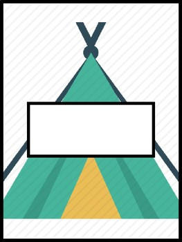 Camping Binder cover Pages