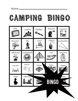 Camping Bingo
