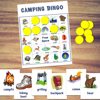 Camping Bingo Game By Love Teaching Kids