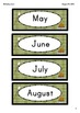 Camping Birthday Chart